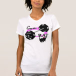 Lady Gym Rat Weightlifting T-Shirt