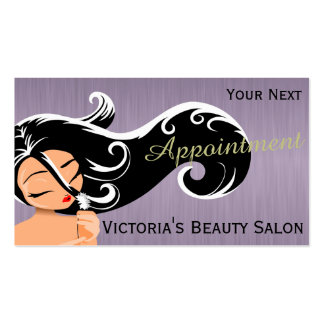 Lady Hair Stylist Appointment Cards Business Card