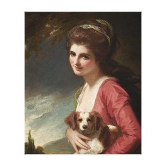 Lady Hamilton as Nature Romney Canvas Art Gallery Wrap Canvas