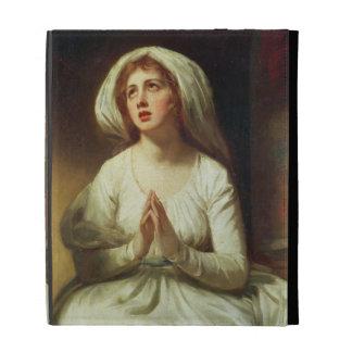 Lady Hamilton Praying iPad Folio Covers