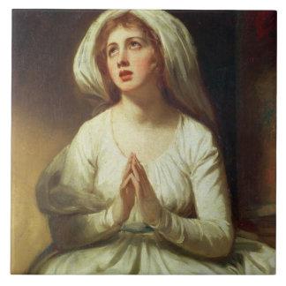 Lady Hamilton Praying Ceramic Tile