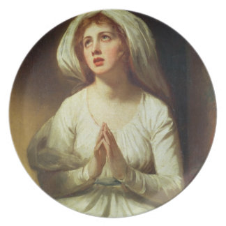 Lady Hamilton Praying Dinner Plate