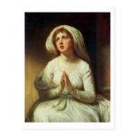Lady Hamilton Praying Postcard