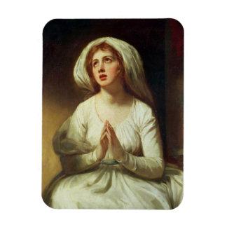 Lady Hamilton Praying Rectangle Magnet