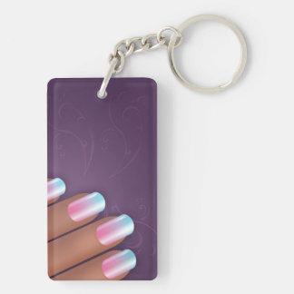 Lady Hand Key Double Sided KeyChain