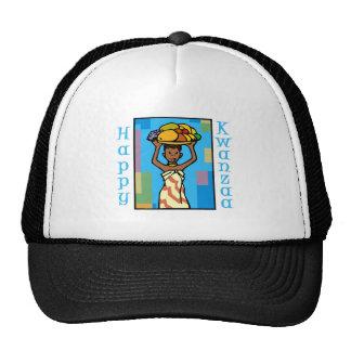 Lady Happy Kwanzaa Mesh Hats