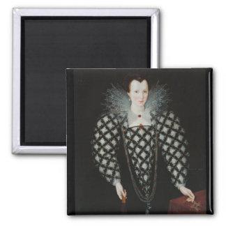 Lady Harrington 2 Inch Square Magnet