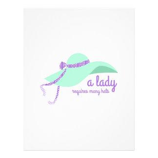 Lady Hat Letterhead