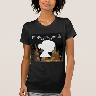 LADY HEAD BRICK BACKGROUND PRODUCTS T-SHIRT