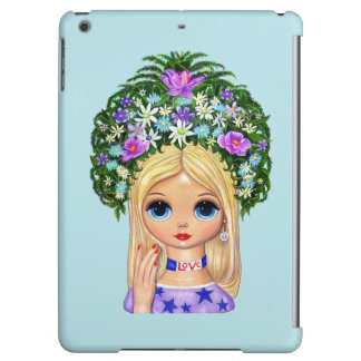 Lady Head Vase Love 1960s Blythe Flower Child Cover For iPad Air