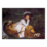 Lady & Her Pet Pug in a Boat by James Tissot Print