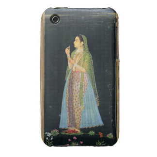 Lady holding a blossom, from the Small Clive Album Case-Mate iPhone 3 Cases
