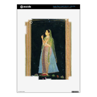 Lady holding a blossom, from the Small Clive Album Skins For iPad 3