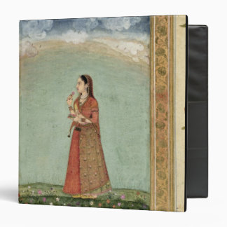Lady holding a bowl of roses, from the Small Clive 3 Ring Binder