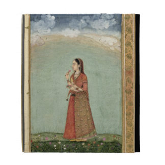 Lady holding a bowl of roses, from the Small Clive iPad Cases