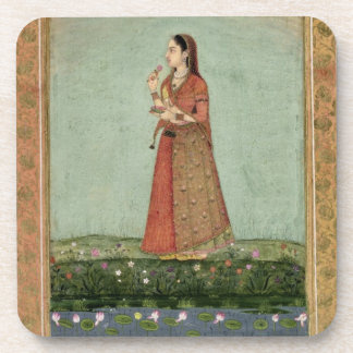 Lady holding a bowl of roses, from the Small Clive Coasters