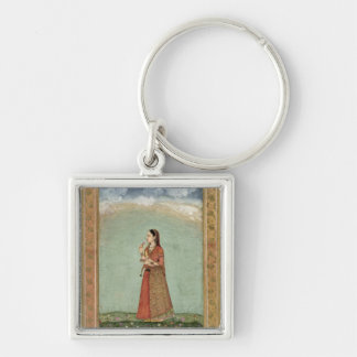 Lady holding a bowl of roses, from the Small Clive Key Chain