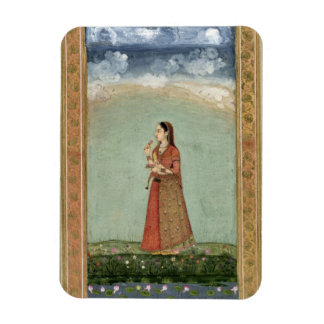 Lady holding a bowl of roses, from the Small Clive Magnet