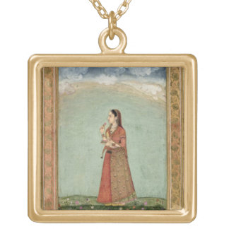 Lady holding a bowl of roses, from the Small Clive Pendant