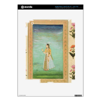 Lady holding a flower, from the Small Clive Album iPad 3 Skins