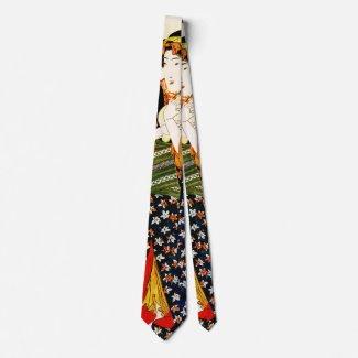Lady Holding Cat 1843 Neck Tie