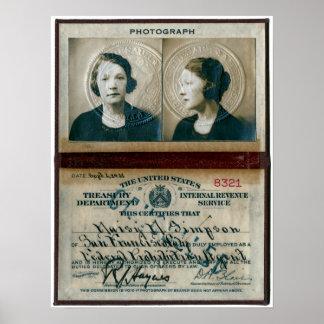 LADY HOOCH HUNTER - DAISY SIMPSON 1921 POSTER