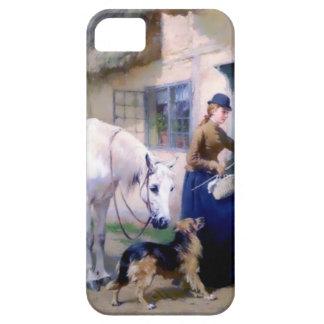 Lady Horse German Shepherd Cottage visitors iPhone 5 Cases