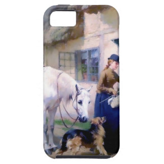 Lady Horse German Shepherd Cottage visitors iPhone 5 Cover