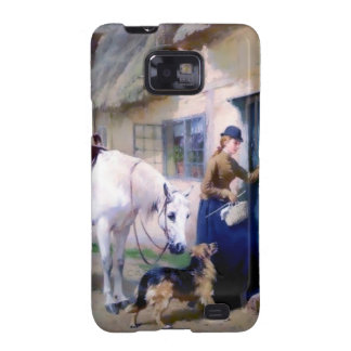 Lady Horse German Shepherd Cottage visitors Samsung Galaxy S2 Cases