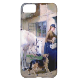 Lady Horse German Shepherd Cottage visitors Cover For iPhone 5C