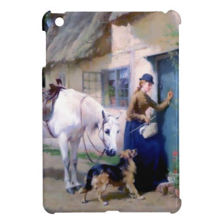Lady Horse German Shepherd Cottage visitors Case For The iPad Mini