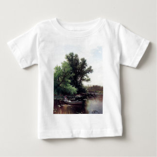 Lady in a boat antique painting baby T-Shirt