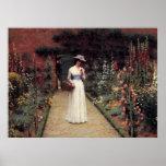 Lady in a Garden - Edmund Blair Leighton Posters