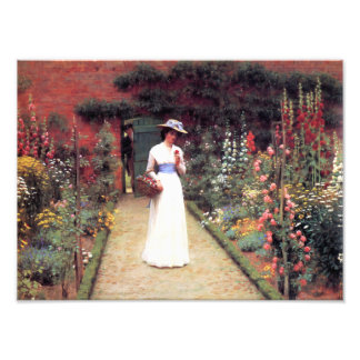 Lady in a Garden Photograph