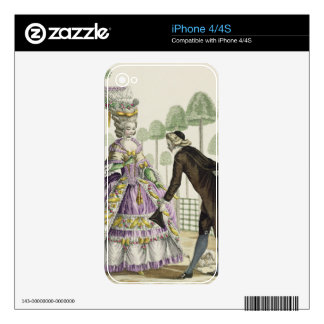 Lady in a Lilac Dress Promenades in the Gardens of iPhone 4S Decals