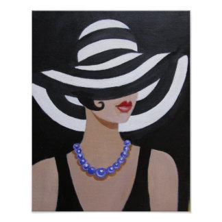 LADY IN A PICTURE HAT, POSTER