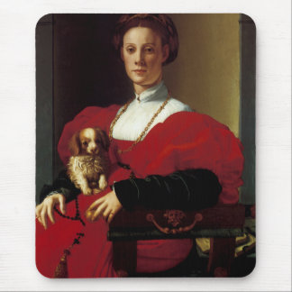 Lady in a Red Dress Mouse Pad