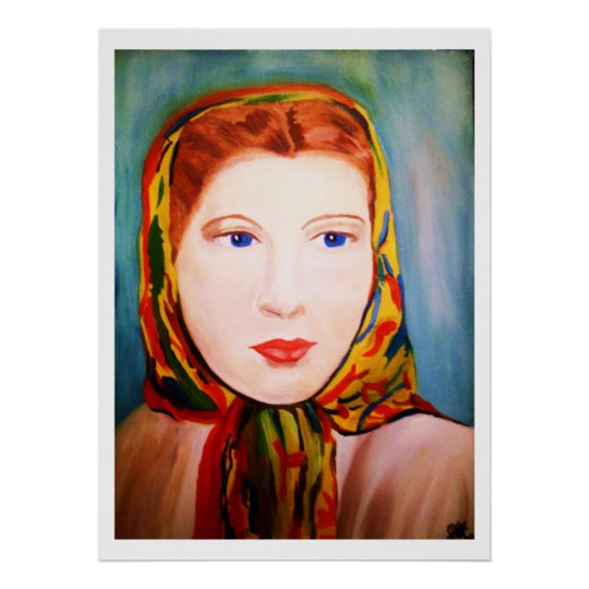 LADY IN A SCARF print
