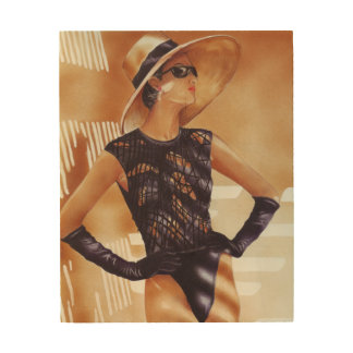 Lady in a Sunhat Wood Wall Art