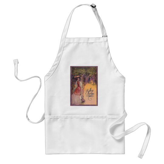 Lady in a Wisteria Garden Adult Apron