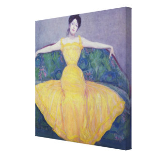 Lady in a Yellow Dress, 1899 Canvas Print
