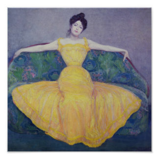 Lady in a Yellow Dress, 1899 Poster