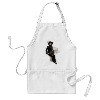 Lady in Black Adult Apron