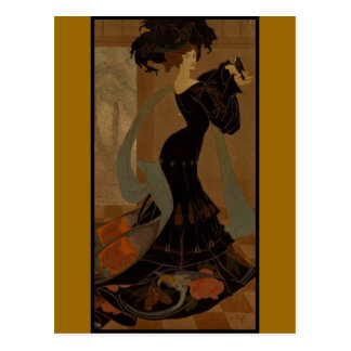 Lady in Black Postcard