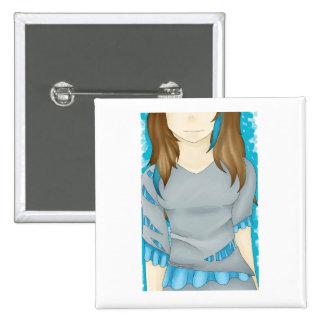 Lady in Blue Art Pin