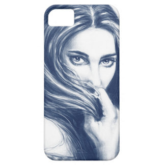 Lady In Blue iPhone SE/5/5s Case