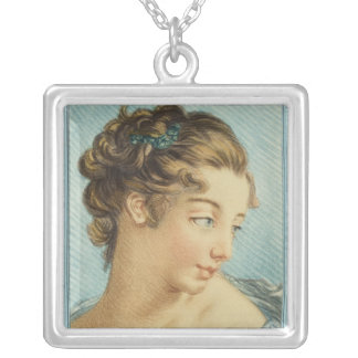 Lady in Blue Necklace
