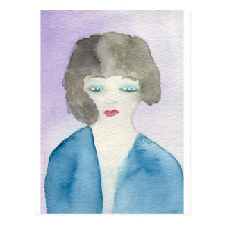 Lady in Blue Postcard