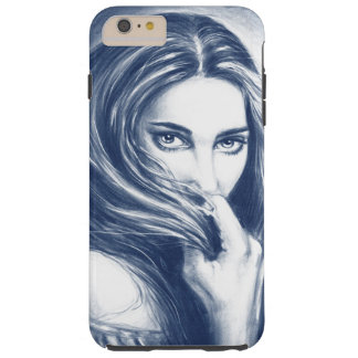 Lady In Blue Tough iPhone 6 Plus Case