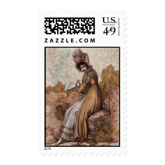 Lady in Brown Postage